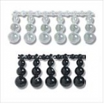 Pearl Beading: Shaped: Tri-Size Drop: 10m x 19mm - Full Colour Range
